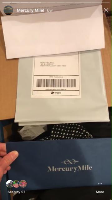 mercury mile return envelope