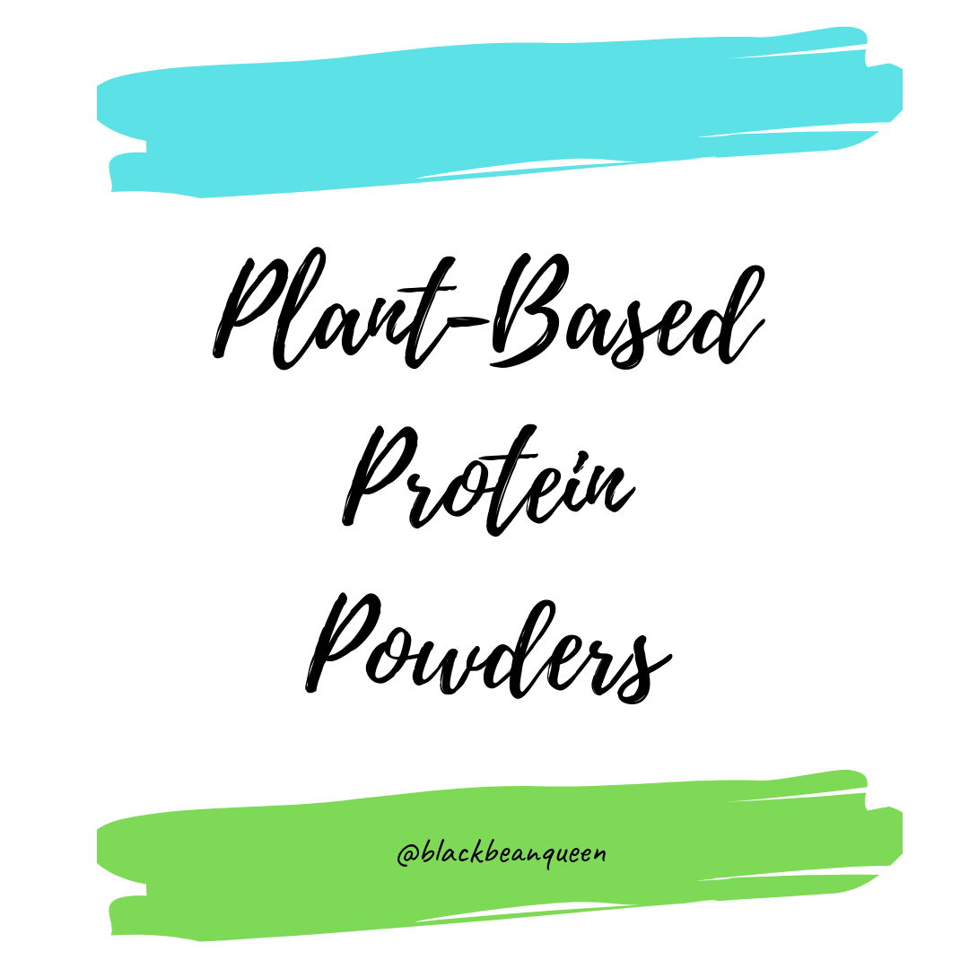 Plant based protein powders IG post