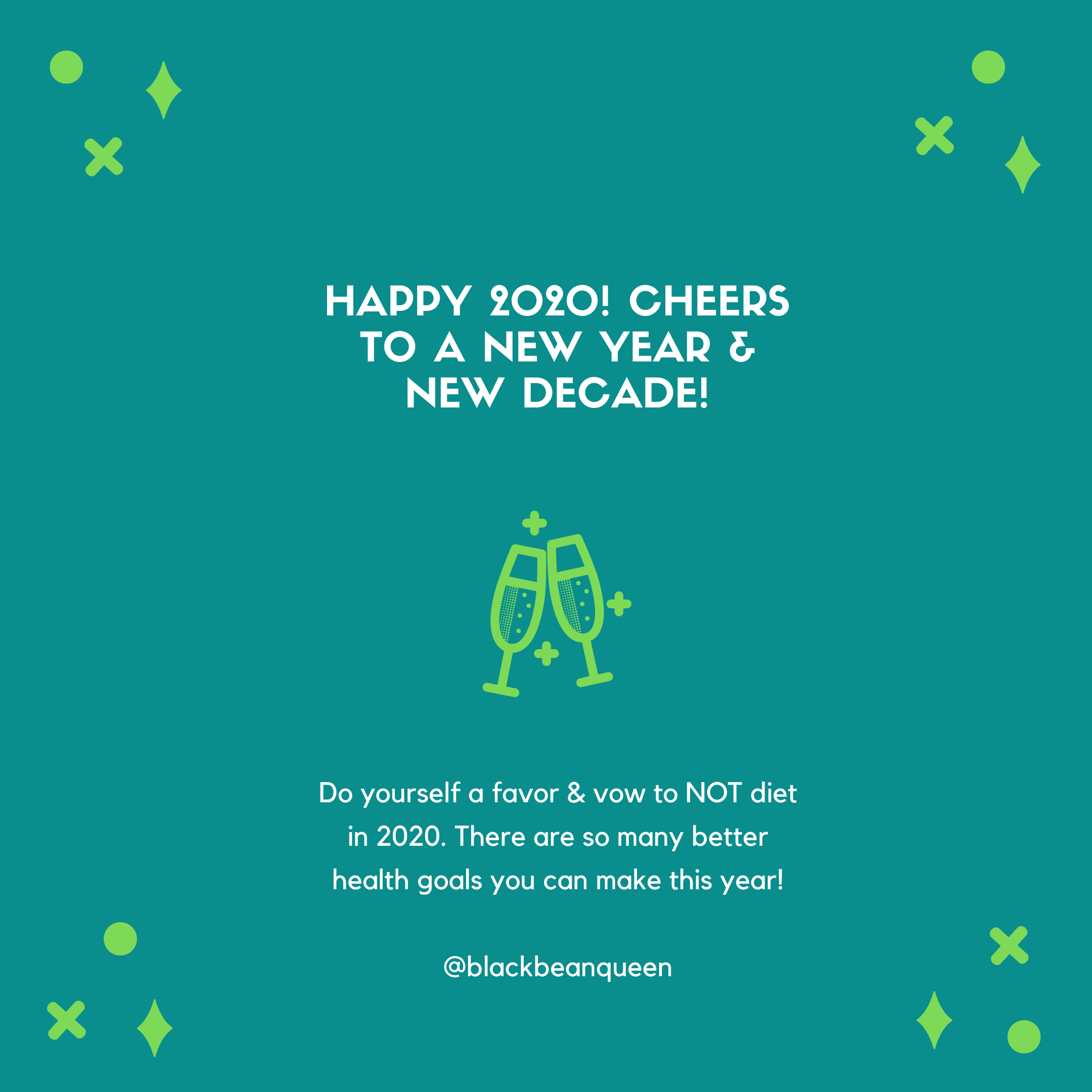 Happy 2020! Cheers to a new year & new decade!